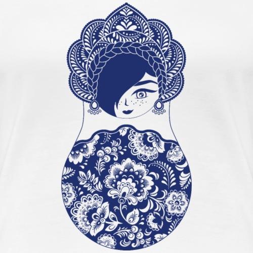 Matroschka Katharina (dunkelblau) - Frauen Premium T-Shirt