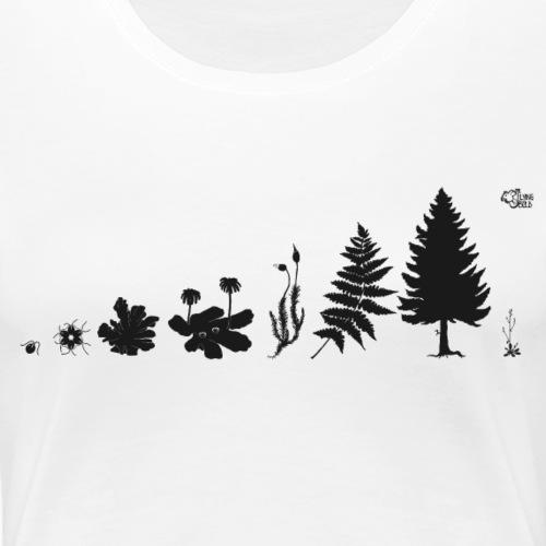 Evolution der Pflanze - Frauen Premium T-Shirt