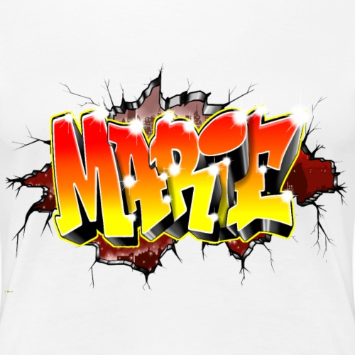 Graffiti Marie Mur Cassé Breaking wall - T-shirt Premium Femme