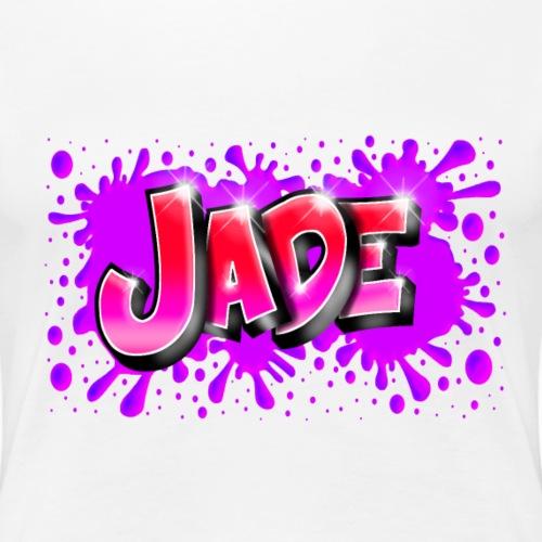 JADE Graffiti Name with splash of color - T-shirt Premium Femme