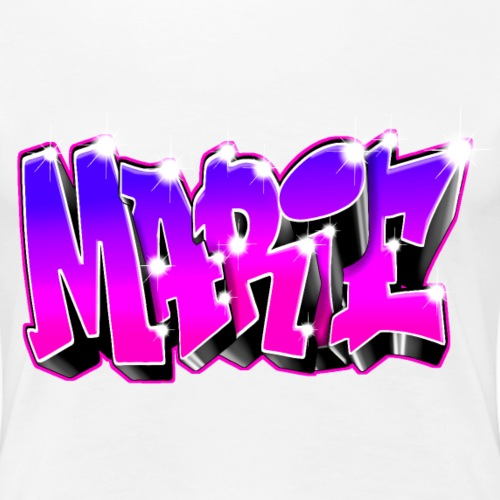 MARIE GRAFFITI TAG PINK PURPLE PRINTABLE - T-shirt Premium Femme