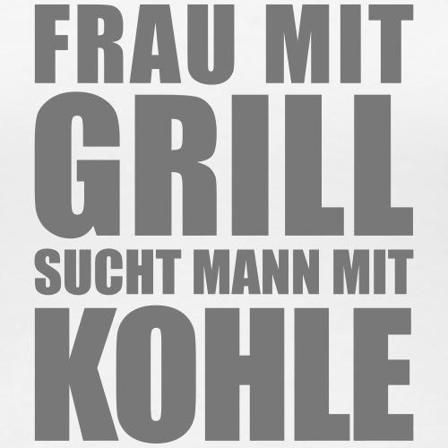 Frau Mann Grill Kohle Geld Dollar Euro Party - Women's Premium T-Shirt