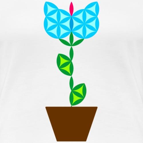 The Flower Of Life - Sacred Plants. - Women's Premium T-Shirt