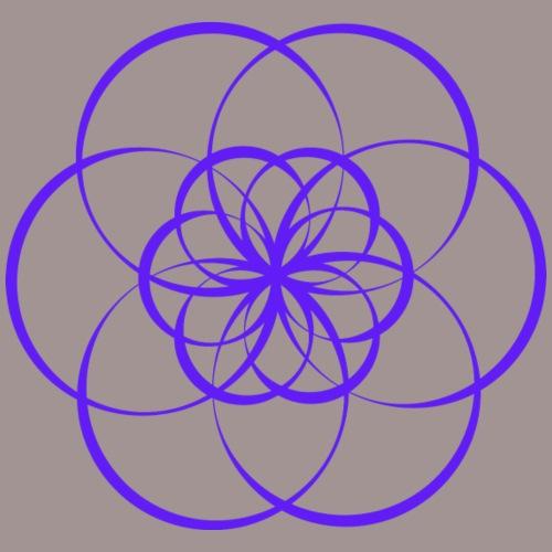 Fleur de vie indigo - Chakra du 3ème oeil - T-shirt Premium Femme