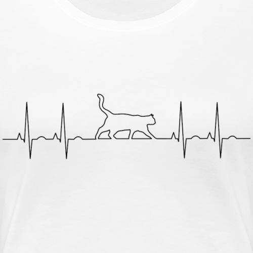 latidos gatunos - Camiseta premium mujer