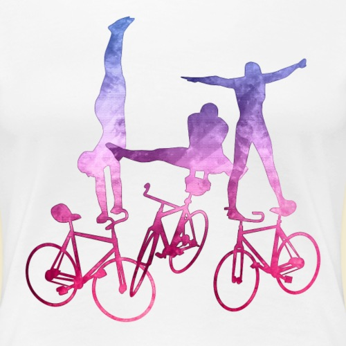 Kunstrad   Artistic Cycling   Balance Pink - Frauen Premium T-Shirt