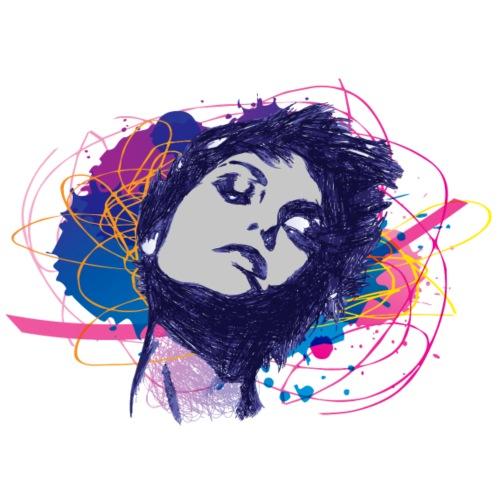 girl illustration - Frauen Premium T-Shirt