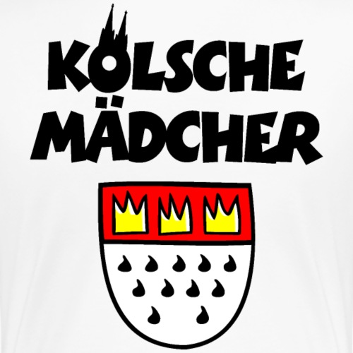 Kölsche Mädcher mit Kölner Wappen Köln Design - Frauen Premium T-Shirt