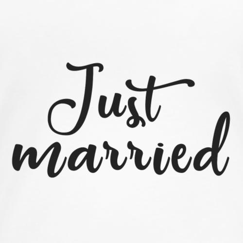 Just married - Women's Premium T-Shirt