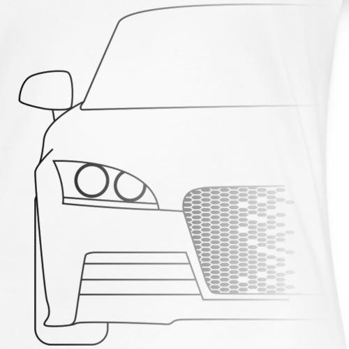 Sportwagen Silhouette - Frauen Premium T-Shirt