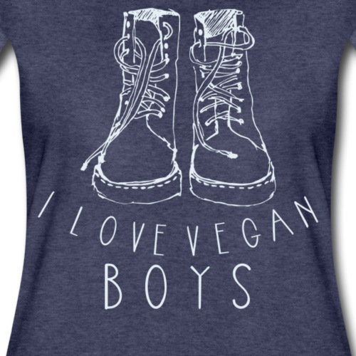 I love Vegan Boys Shirt Veganer T-Shirt - Frauen Premium T-Shirt
