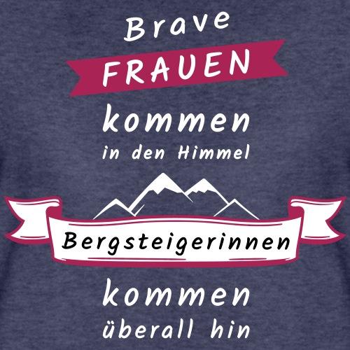 Brave Frauen - Bergsteigerin - Frauen Premium T-Shirt