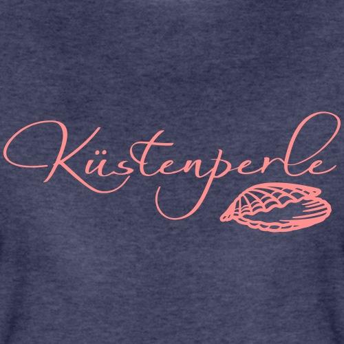 Küstenperle mit Muschel - Frauen Premium T-Shirt