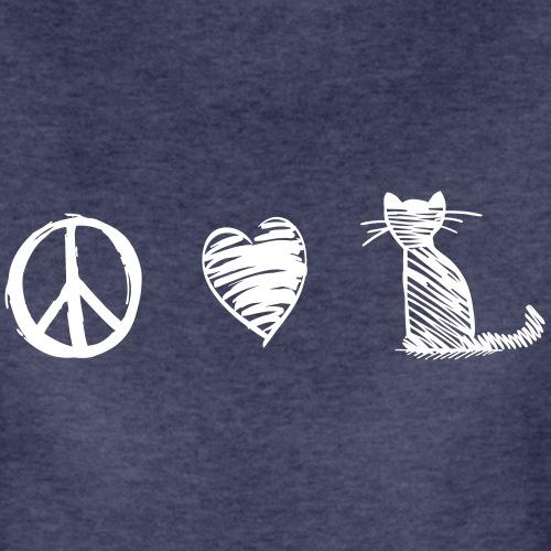 peace love cats - Frauen Premium T-Shirt