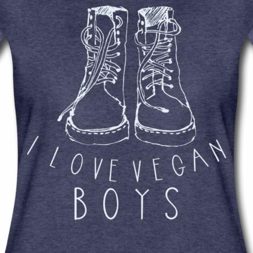 I love Vegan Boys Shirt Veganer T-Shirt - Frauen Premium T-Shirt