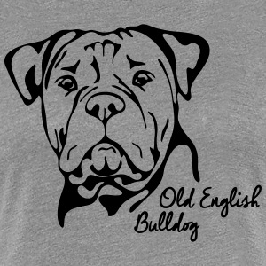 OLD ENGLISH BULLDOG STÅENDE - Premium T-skjorte for kvinner