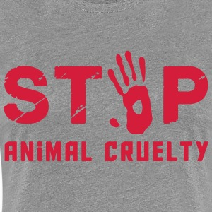 Stop for animal brutality - Women's Premium T-Shirt