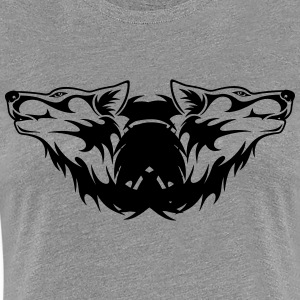 Double-Wolf Logo - Women's Premium T-Shirt