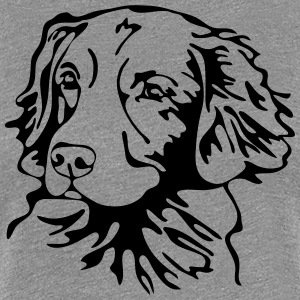 NOVA SCOTIA DUCK TOLLING RETRIEVER PORTRAIT - Frauen Premium T-Shirt
