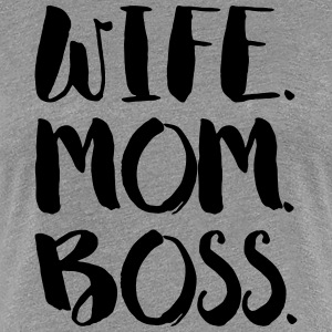 Hustru. MOM. BOSS - Dame premium T-shirt