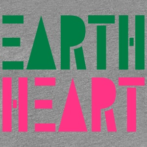Earth Heart in Geometric Shapes, - Women's Premium T-Shirt