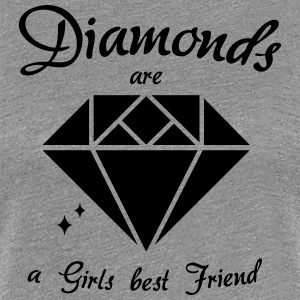 Diamonds are a Girls best Friend - Frauen Premium T-Shirt