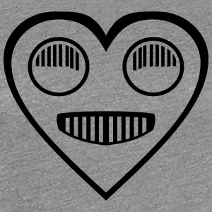 Automotive Love - Heart headlight eyes - Women's Premium T-Shirt