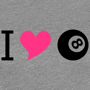I love billard pink - Women's Premium T-Shirt