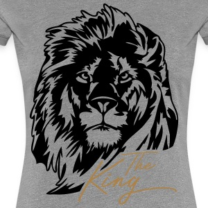 The Lion - The King - Premium-T-shirt dam