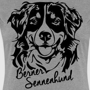 BERNESE MOUNTAIN DOG PORTRAIT - Women's Premium T-Shirt
