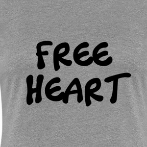 GRATIS BLACK HEART - Premium T-skjorte for kvinner