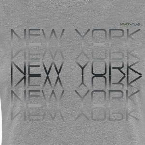 Space Atlas Tee New York New York - Women's Premium T-Shirt