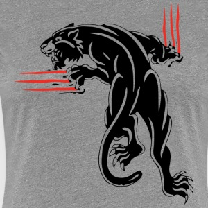BLACK ANIMAL JUNGLE WILD CAT - Frauen Premium T-Shirt