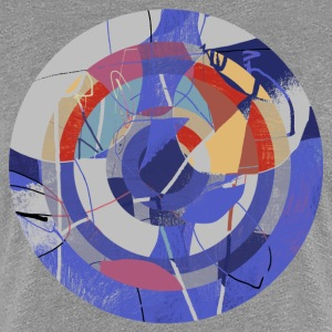 Circle design abstract colour 002 - Vrouwen Premium T-shirt