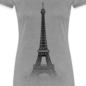 Around The World: Eiffel Tower - Paris - Vrouwen Premium T-shirt