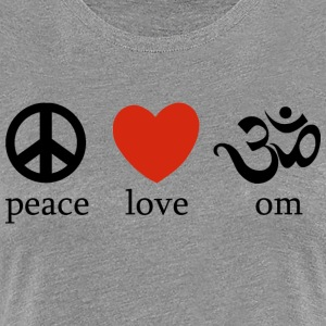 Peace Love Yoga - Premium T-skjorte for kvinner