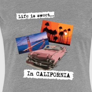 Life is sweet in California, poster travel t shirt - Women's Premium T-Shirt