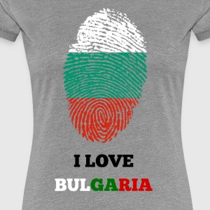 I LOVE BULGARIA FINGERABDRUCK - Frauen Premium T-Shirt
