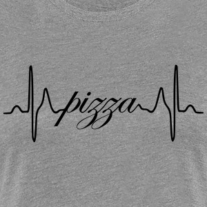 Pizza heartbeat ECG - Women's Premium T-Shirt