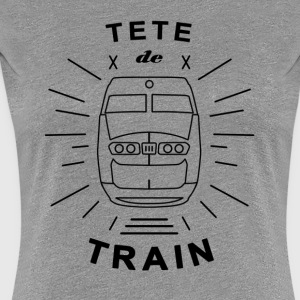 Tete_De_Train_Black_Aubstd - Vrouwen Premium T-shirt
