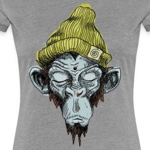 Monkey with hat - Women's Premium T-Shirt