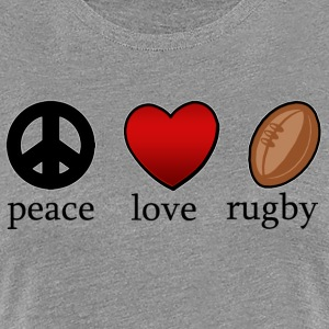 Peace Love Rugby - Dame premium T-shirt