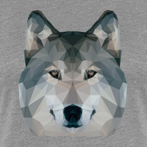 Low Poly Wolf - Frauen Premium T-Shirt