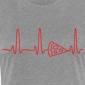 ECG HEART LINE PIZZA red - Women's Premium T-Shirt