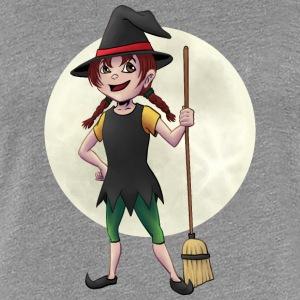 Kleine Hexe vor Vollmond - Frauen Premium T-Shirt
