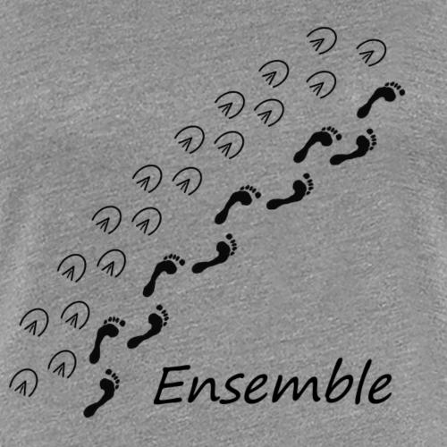 Ensemble pieds nus (noir) - T-shirt Premium Femme