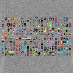Society Pixel Art - Women's Premium T-Shirt