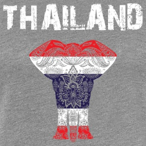 Nation design Thailand Elephant - Dame premium T-shirt