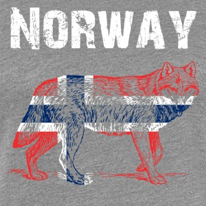 Nation-design Norge Wolf - Dame premium T-shirt