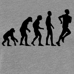 Human Evolution Running - Premium T-skjorte for kvinner